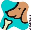 Vector Clip Art graphic  of a Misc Dogs