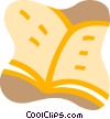 Open book Vector Clip Art picture