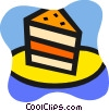 Piece of layer cake Vector Clip Art image
