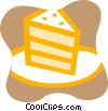 Piece of layer cake Vector Clip Art graphic