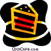 Vector Clipart image  of a Piece of layer cake