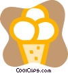 Vector Clip Art graphic  of a Ice Cream cone