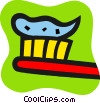 Toothbrush with toothpaste Vector Clip Art picture