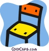 Kitchen chair Vector Clipart image