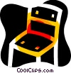 Vector Clipart illustration  of a Kitchen chair