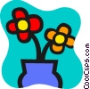 Vector Clipart illustration  of a Flowers in a Vase