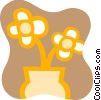 Flowers in a Vase Vector Clip Art picture