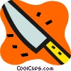 Sharp kitchen knife Vector Clip Art picture