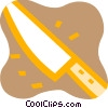 Sharp kitchen knife Vector Clipart picture