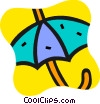 Open Umbrella Vector Clip Art graphic