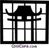 Japanese temple Vector Clipart illustration