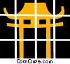 Vector Clip Art picture  of a Japanese temple