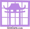 Vector Clip Art image  of a Japanese temple