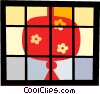 Vector Clipart picture  of an Asian lantern