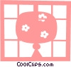 Asian lantern Vector Clipart picture