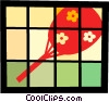 Vector Clipart graphic  of an Asian hand fan