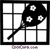 Asian hand fan Vector Clipart illustration