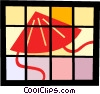 Vector Clip Art picture  of an Asian sun hat