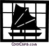 Asian sailboat Vector Clip Art picture