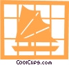 Vector Clipart illustration  of an Asian sailboat