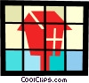 Bird house Vector Clipart graphic