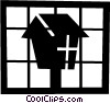 Vector Clipart illustration  of a Bird house
