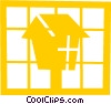 Bird house Vector Clipart illustration