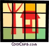 Vector Clipart graphic  of a House and tree