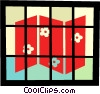 Folding privacy screen Vector Clipart picture