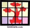 Vector Clip Art picture  of a Bonsai tree