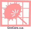 Asian hand fan Vector Clip Art image