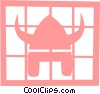Vector Clip Art picture  of a Viking battle helmet