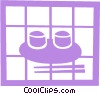 Rice bowls with chopsticks Vector Clip Art picture