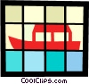 Vector Clip Art picture  of an Asian fishing boat