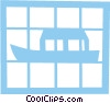 Asian fishing boat Vector Clip Art graphic