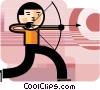 Archer aiming for target Vector Clipart image