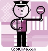 Vector Clip Art image  of a Crossing Guards