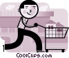 Man shopping for a new home Vector Clipart illustration