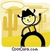 Vector Clipart image  of a Cowboys