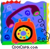 Vector Clipart picture  of a Telephone ringing off the hook