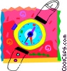 Vector Clip Art image  of a Colorful Wristwatch