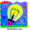 Colorful light bulb Vector Clip Art picture