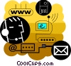 Vector Clipart graphic  of a E-mail concept