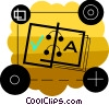 Vector Clipart image  of a Open book