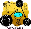 Vector Clip Art graphic  of a Satellite communication