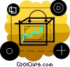 Vector Clipart picture  of a Charting success
