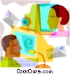 Web chat concept Vector Clip Art picture