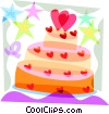 Wedding cake Vector Clip Art picture