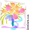 Vector Clip Art picture  of a Wedding flowers