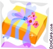 Vector Clipart image  of a Wedding gift